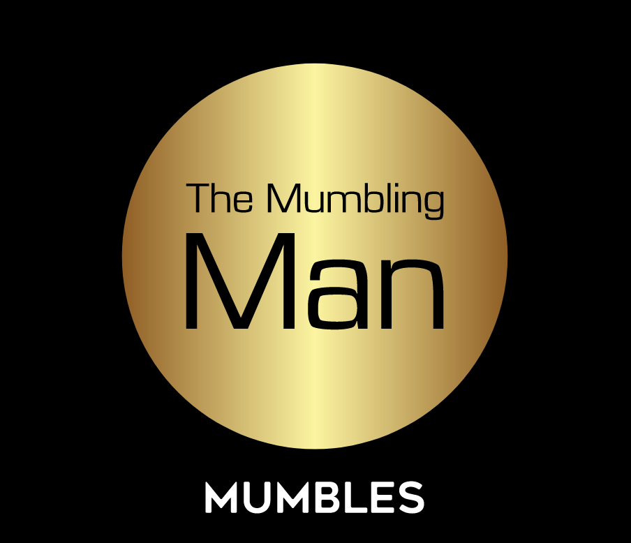Who is The Mumbling Man and what is he saying?